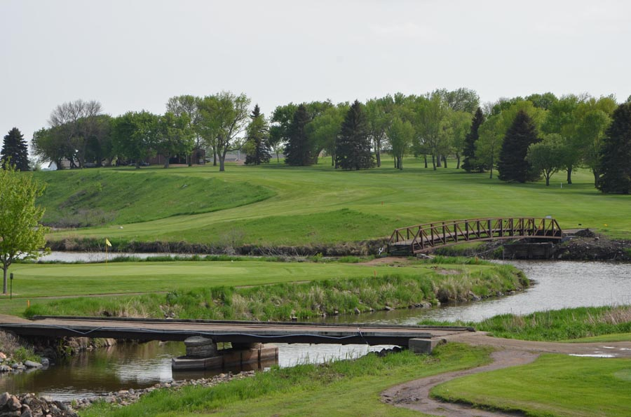 Madison Golf and Country Club features water hazards